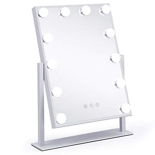 APOKE Hollywood Espejo Iluminado Espejo de tocador Grande para Maquillaje con Bombillas...