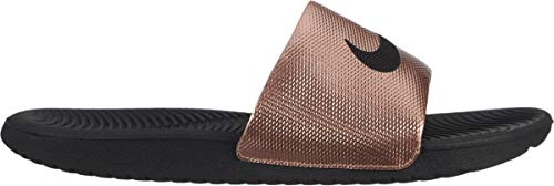 Nike Women's Kawa Slide, Metallic Red Bronze / Black, 6