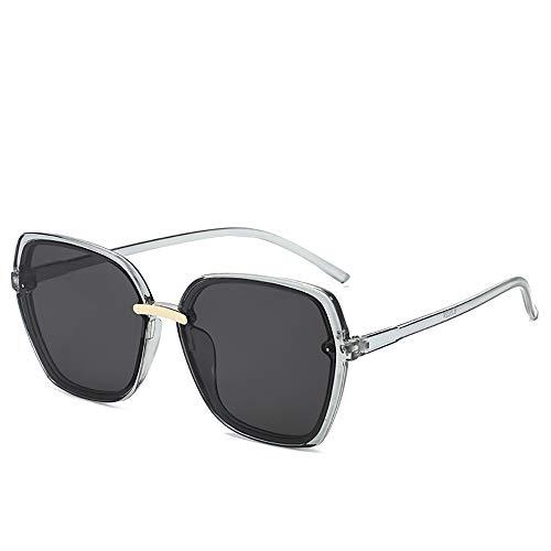 Box Sonnenbrille Mode für Männer Netto-rote Flut Frau uvSonnenbrille Shading,Grau