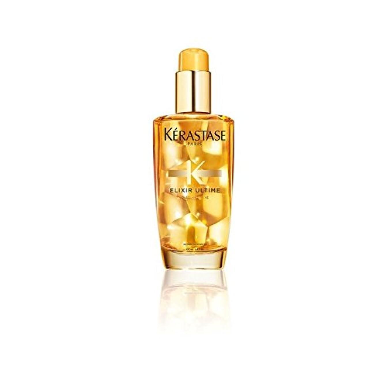 ヒロイック人形ワックスケラスターゼエリクサーのヘアオイル(100ミリリットル) x2 - K?rastase Elixir Ultime Hair Oil (100ml) (Pack of 2) [並行輸入品]