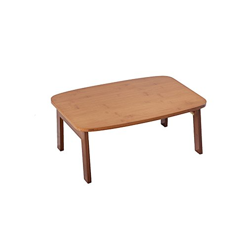JU FU Table pliante - Table de bureau en bambou Table de loisirs Table pliante Table pliante portable Petite table Table de chevet moderne minimaliste Petite table de salle à manger |