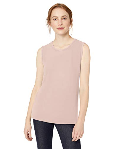 Amazon-Marke: Daily Ritual, bequemes Damen-Muskelshirt, Pink, US S (EU S - M)