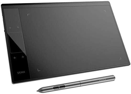 Drawing Tablet VEIKK A30 - Tablet da 10 x 6 pollici con sensibilità di pressione 8192, senza penna per il drenaggio digitale con guanti Artist