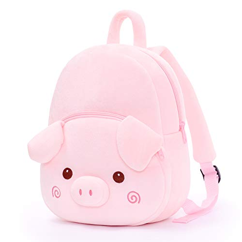 Gloveleya Toddler Girls Backpack Pig Bag for Children Pink Over 3 Year Old