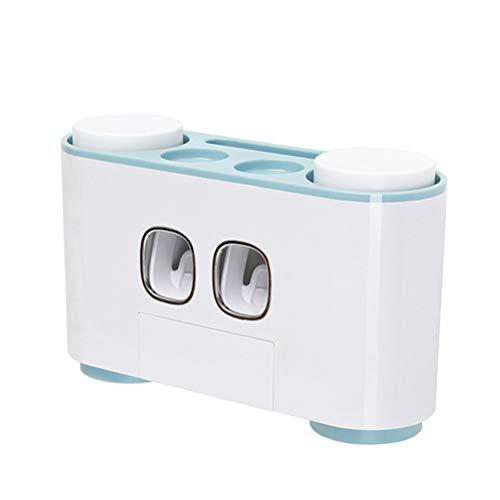 LDFANG wandgemonteerde automatische tandpasta dispenser wasbeker rek voor badkamer badkamer badkamer stofvrij ponsen familie
