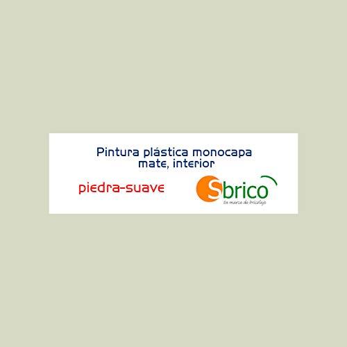 Sbrico Pintura Plástica Monocapa - Color Piedra con Acabado Mate de Secado Rápido, Alto Rendimiento (10m2/L) y Muy Fácil Aplicación, Cubeta de 4 Litros
