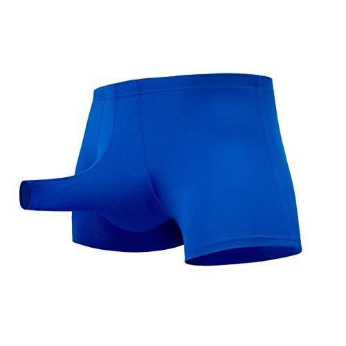 Papapai Ropa Interior Sexy para Hombres Ropa Interior Ropa Interior Tanga Pantalones Cortos de Encaje Boxer Shorts Pijamas Suaves y Transpirables para Adultos Hombres Sexy Micro Tanga (Azul, M)