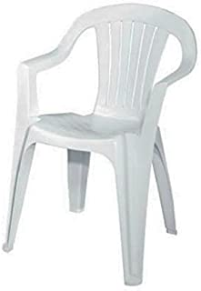 Adams Mfg 8234-48-3704 WHT Low Back Chair - Quantity 1