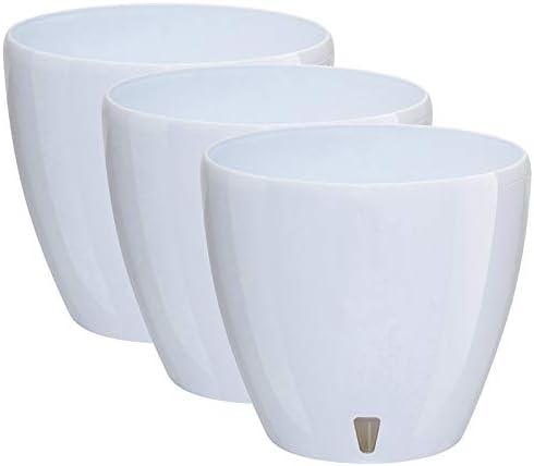Santino 5.5 Inch Deco Self Watering Pots for Plants 供え in Wh Indoor 並行輸入品