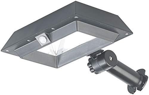 Lunartec Dachrinnenleuchte: 2in1-Solar-LED-Dachrinnen- & Wandleuchte, PIR-Sensor, 300 lm, schwarz (Solar Dachrinnenleuchte)