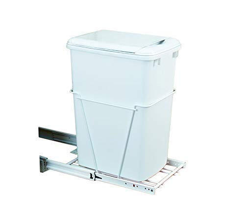 Rev-A-Shelf 35 QT Pullout Lid Waste Containers, White