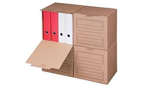 smartboxpro Archiv-Container, mit Frontdeckel, braun, Sie erhalten 5 Stück