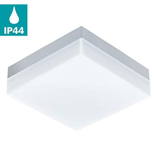 EGLO Sonella iluminación de techo White LED A++ - Lámpara (White, Cepillado, IP44, LED, A++, Blanco cálido)