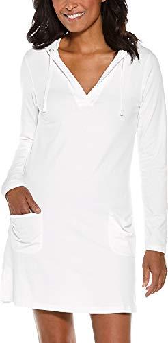 Coolibar UPF 50+ Women's Catalina Beach Cover-Up Dress - Sun Protective (XX-Large- White)
