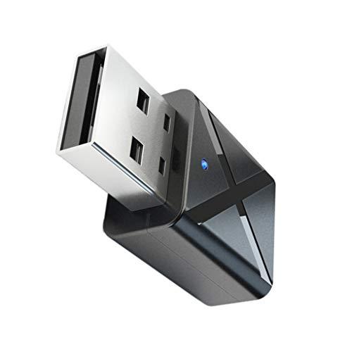 Bluetooth USB 5.0 Transmisor Receptor de TV Altavoz del Auricular de 3.5mm Mini AUX estéreo Adaptador inalámbrico