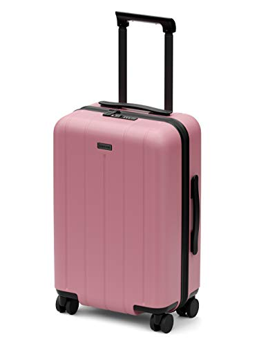 CHESTER Minima Carry-On Luggage / 22'x14'x9' Lightweight Polycarbonate Hardshell/Spinner Suitcase/TSA Approved Cabin Size (Spritz (Pink), Carry-On Luggage)
