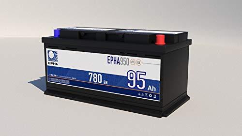 Bateria arranque coche y furgoneta EPHA950 95Ah 780EN +DER, equivalente a TB950, G3 potente y eficaz