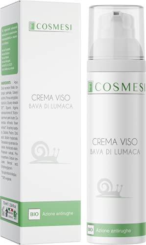 Crema Viso Bava di Lumaca con Acido Ialuronico BIO CERTIFICATA da 75ml ad Azione Antirughe, Idratante e Rigenerante 100% Made in Italy