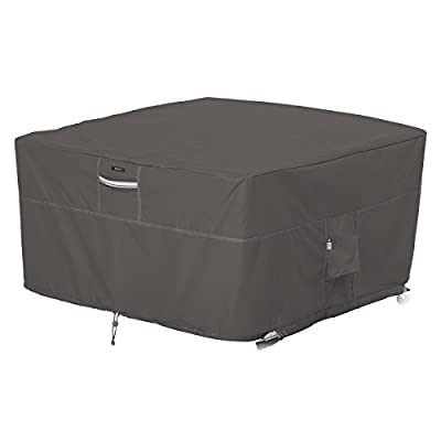 Classic Accessories Ravenna Water-Resistant 42 Inch Square Fire Pit Table Cover