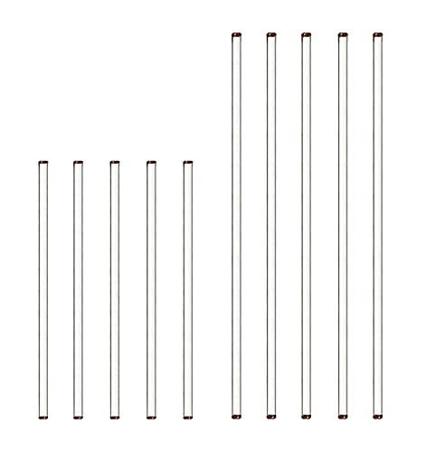 Glas Rührstab Rührstäbchen für Labor Schule 5 Stück 30cm und 5 Stück 20cm