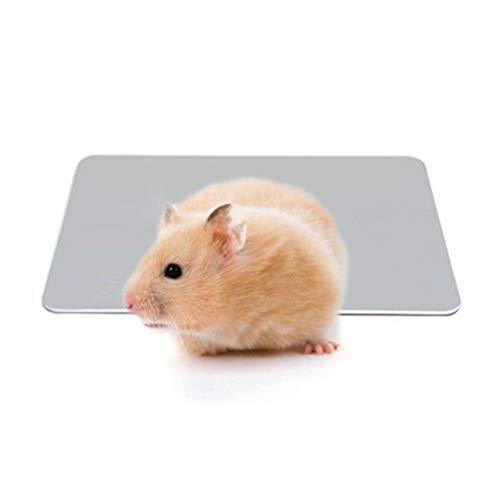 Alfombrilla de enfriamiento Mascotas pequeñas Placa de enfriamiento Alfombras Especiales de aleación de Aluminio Especial para hámster Conejo, 12 * 8 cm