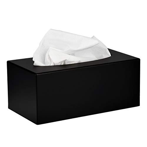 Alpine Industries Acrylic Rectangular Facial Tissue Dispenser Box - Modern Plastic Paper Towel Holder for Car, Kitchen Countertop, Bathroom & Shop … (Rectangular)