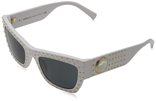 Versace Zonnebril VE4358-401-87-52 Rechthoekige zonnebril 52, wit