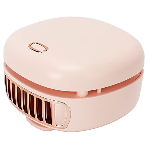 Zerodis Mini Ventilador eléctrico, Ventilador de Cuello Manos Libres con Carga USB Ventilador portátil sin Cuchillas de Cintura Colgante para Oficina hogar Viajes de Verano al Aire Libre(Rosa)