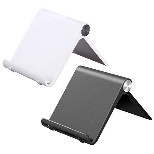 Porta Telefono Cellulare Tavolo Regolabile Supporta da iPad Supporto Tablet con Angolo Rotazione di Gradi Pieghevole Scrivania Portatile Porta Telefono e Tablet Compatible per iPad Mini 2 Pezzi
