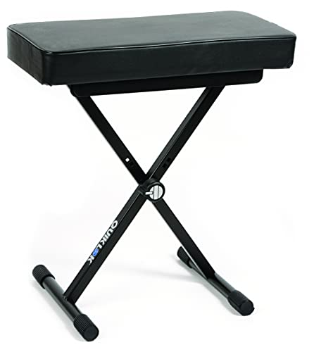 QUIK LOK - BX/8 Piccola Panca Ideale per Piano o Tastiera con Comodo Cuscino