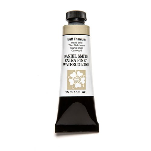 DANIEL SMITH 284600009 Extra Fine Watercolor 15ml Paint Tube, Buff Titanium