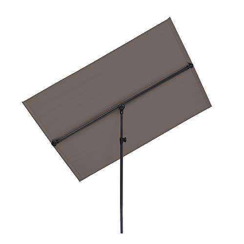 blumfeldt Flex-Shade - Parasole, Materiale: Poliestere, Fattore di Protezione UV: 50, Gamba di Appoggio in Alluminio, Idrorepellente, Superficie: 130x180 cm, Grigio Scuro