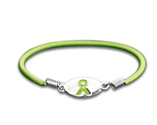 Fundraising For A Cause Non Hodgkin's Lymphoma Awareness Lime Green Ribbon Stretch Bracelet (1 Bracelet)