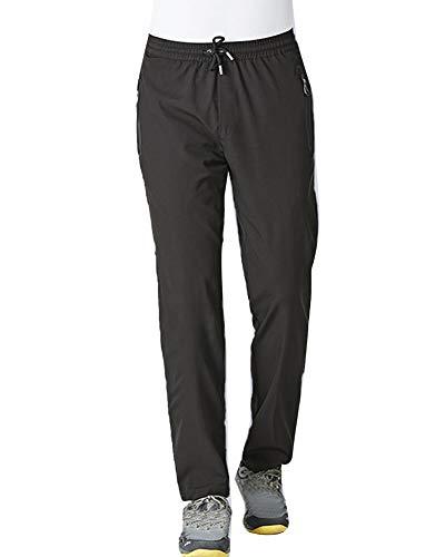 Homme Pantalon De Sport Entraînement Gym Extérieure Décontractée Escalade Outdoor Séchage Rapide Respirant Noir L