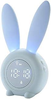 Renfengchui kanin öron LED digital väckarklocka elektronisk LED-display ljudkontroll söt kanin nattlampa skrivbordsklocka ...