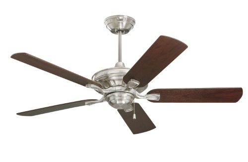 Emerson Ceiling Fans CF452BS Bella 52-Inch Indoor Ceiling Fan, Light Kit Adaptable, Brushed Steel Finish