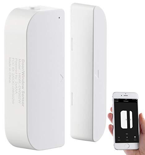 Luminea Home Control Türsensor: WLAN-Tür & Fensteralarm, Sicherung, komp. zu Alexa & Google Assistant (Türsensor...