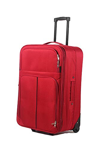 29' Large Suitcase Lightweight Expandable Luggage Hold Check in Travel Case Soft 2 Wheels