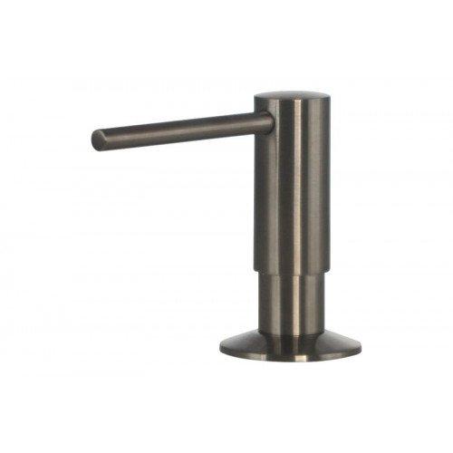 Mizzo Design Govaro Seifenspender | Seifenspender für Küche | Einbauseifenspender mit Flasche | Einbau Seifenspender 360° Drehbar | 300 ml Inhalt (Edelstahl)
