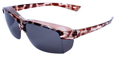 Rapid Eyewear 'Vogue' Schildpatt Polarisierte SONNENÜBERBRILLE für Damen. Überzieh Sonnenbrille für Brillenträger. Ideale Autobrille & Radbrille. UV400 Schutz. Überziehbrille
