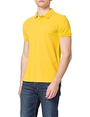 s.Oliver Herren Poloshirt aus Baumwollpiqué yellow XXL