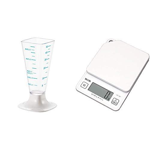 ヨシカワ [セット買い] 日本製 計量カップのいろは 大さじ小さじ計量カップ YJ2770 + タニタ キッチンスケール はかり デジタル 1kg 1g単位 ホワイト KD-187 WH