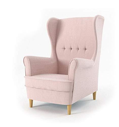 Sofini Ohrensessel Milo! Sessel für Wohnzimmer & Esszimmer! Skandinawisch, Relaxsessel aus Webstoff, Best Sessel! (Beauty 4)