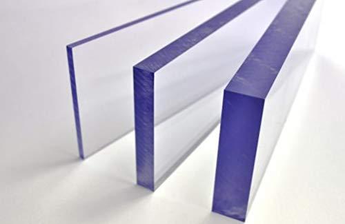 Placas de Policarbonato Compacto 5mm Transparente Doble Cara UV Irrompibles 100x100cm 6 Unidades