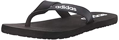 adidas Men's Eezay FLIP Flop Slide Sandal, Black, 13 M US