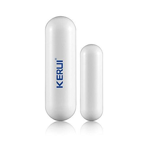 Kerui - Sistema de alarma inalámbrico con detector magnético de apertura de puerta/ventana y avisador de intrusión (Plazo de entrega 3-7 días laborables)