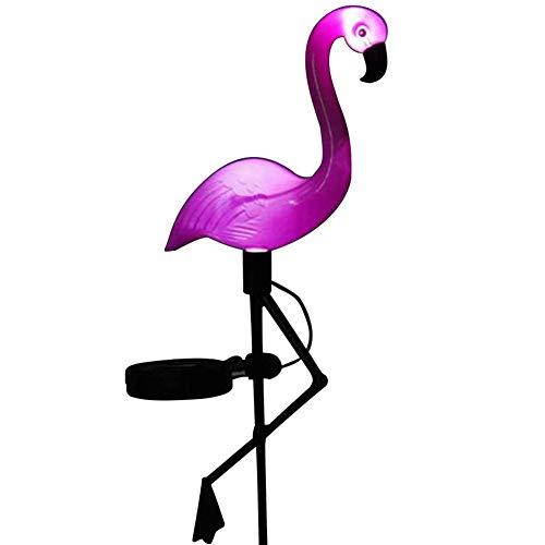 puliao Solar Flamingo-Lichter, Wasserdichtes Licht Im Freien Solar Ground Licht wasserdichte Garten Ornament Rasen Lampe Beleuchtung Wetter Beständig Für Balkon, Terasse