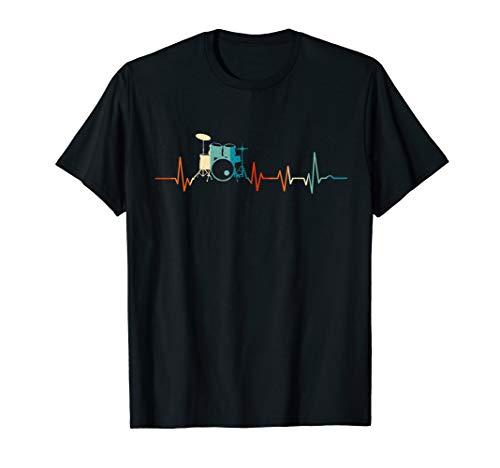 Herzschlag Schlagzeug Schlagzeuger Musik Drummer Geschenk T-Shirt
