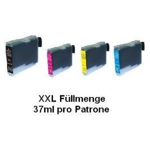 4x Kompatible XXL Drucker Tintenpatronen für Brother MFC-440CN - Cyan / Gelb / Magenta / Schwarz - Inhalt: je Patrone 37ml