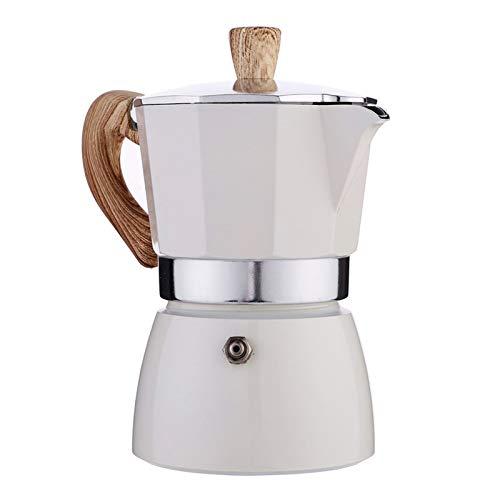 Fenteer Espressokocher Küche Herd Espresso Maker für Starke Aromatisierte, Espressomaschine Induktion Mokkakanne Mokka Maschine für Hause Büro